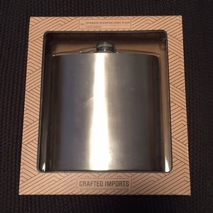 Oversized stainless steel flask